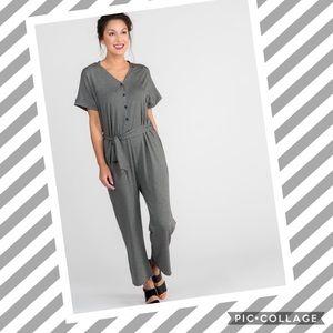 ⓝⓔⓦ AGNES & DORA Belted Jumpsuit •Charcoal